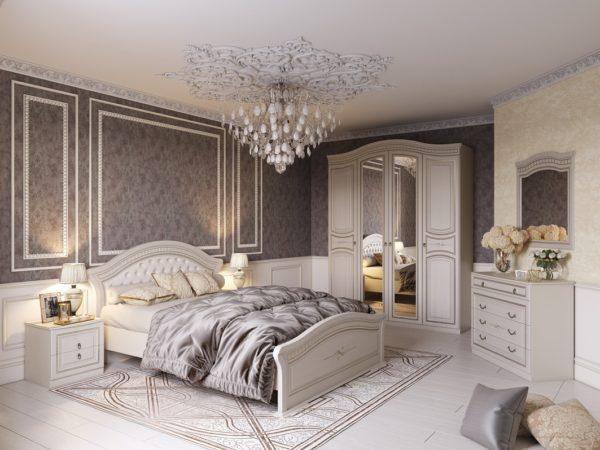 Dormitor clasic nuanta vanilie